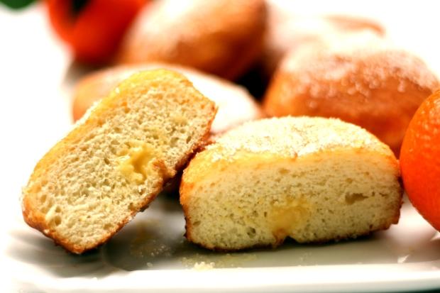 Krapfen alla crema pasticcera al mandarino