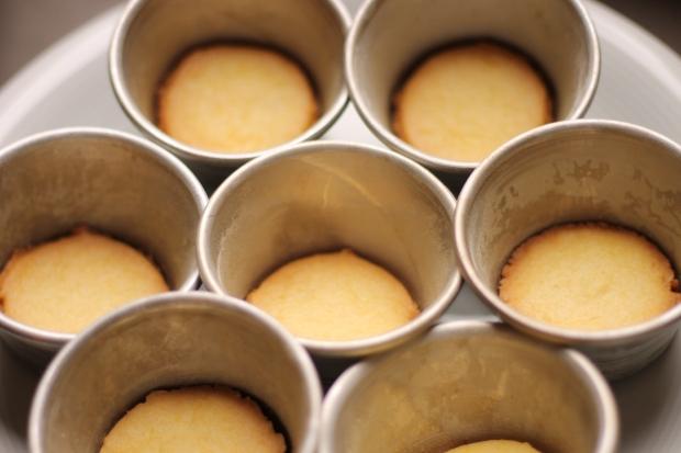 Base dei mignon cioccolato bianco e mirtilli